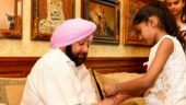 Daughters of martyred soldiers tie rakhis to Punjab CM Amarinder Singh