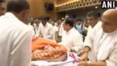 Rajnath, Piyush Goyal, JP Nadda play pallbearer to Sushma Swaraj