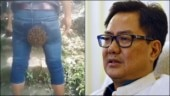 Screenshot (L) from Kiren Rijiju's Twitter and file photo of Kiren Rijiju from Reuters (R).