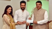 Riteish and Genelia Deshmukh meet CM Devendra Fadnavis, donate Rs 25 lakh for Maharashtra floods