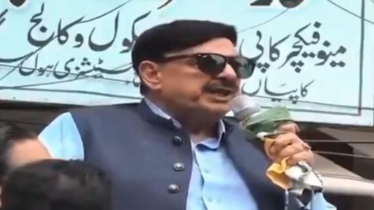 Sheikh Rashid shrieks during speech on Modi
