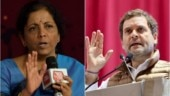 Outlandish: Nirmala Sitharaman slams Rahul Gandhi's chor jibe over Rs 1.76L crore RBI transfer