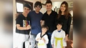 AbRam gets yellow belt in Taekwondo from proud father Shah Rukh Khan. Watch video