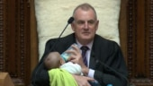 New Zealand Speaker cradles and feeds MP's baby in Parliament. Internet is in love