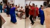 70-year-old women dancing at school reunion has the internet saying aww. Watch viral video