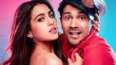 Varun Dhawan pushes Sara Ali Khan on a swing at Coolie No 1 shoot. Trending video
