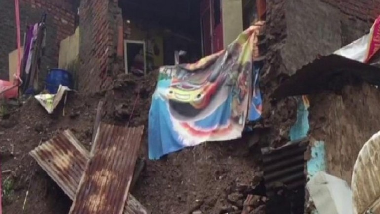 Madhya Pradesh: Several houses collapse due to heavy rain in Mandsaur