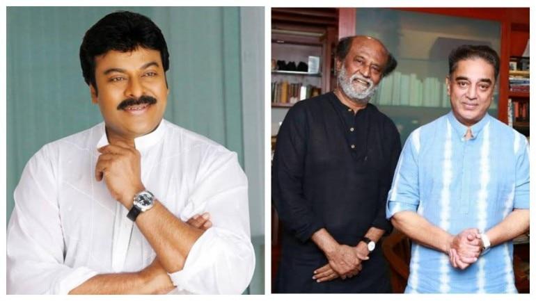 Chiranjeevi, Rajinikanth and Kamal Haasan