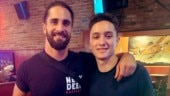 Seth Rollins poses with his new found brother