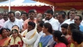 Jayalalithaa's resting place turns wedding venue for AIADMK leader's son