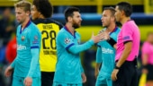 UEFA Champions League: Unlucky Dortmund draw 0-0 with Barca on Messi return