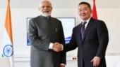 PM Modi meets Mongolian President Battulga in Russia