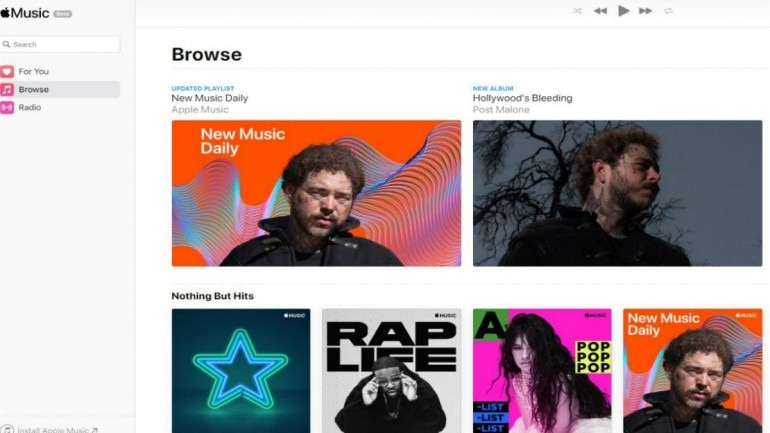 Apple launches public beta version of Apple Music on web