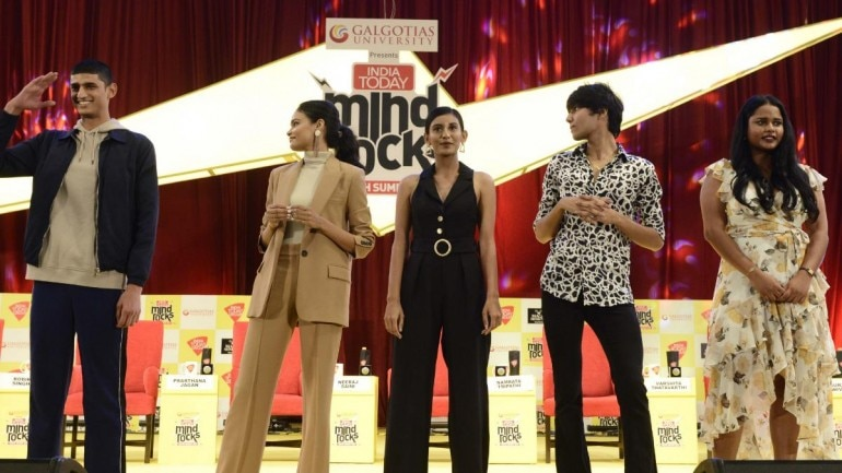 Indian supermodels at India Today Mind Rocks Delhi 2019 Photo: Vikram Sharma