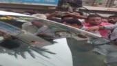 Karnataka rains: Flood-affected people stop minister's car, demand compensation