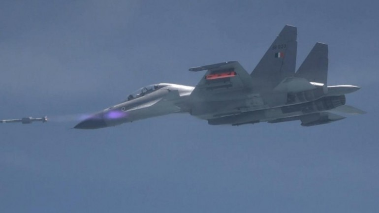 Air-to-Air missile Astra successfully flight tested from Su-30 MKI (Ministry of Defence)