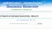 Released! Check Annamalai University DDE 2019: Check May exam result at annamalaiuniversity.ac.in