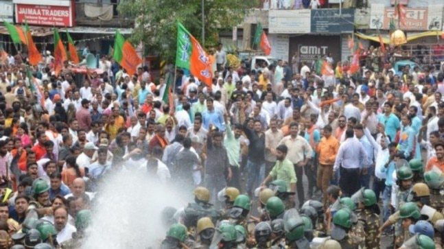 Madhya Pradesh: BJP holds statewide protest against Kamal Nath govt