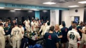 England, Australia players celebrate hard-fought Ashes series with beers in dressing room