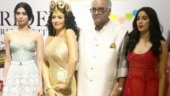 Janhvi Kapoor holds Boney Kapoor's hand as he sobs while unveiling Sridevi's wax statue. Watch video