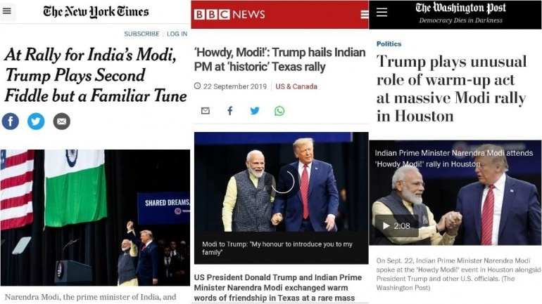 foreign media coverage of howdy modi