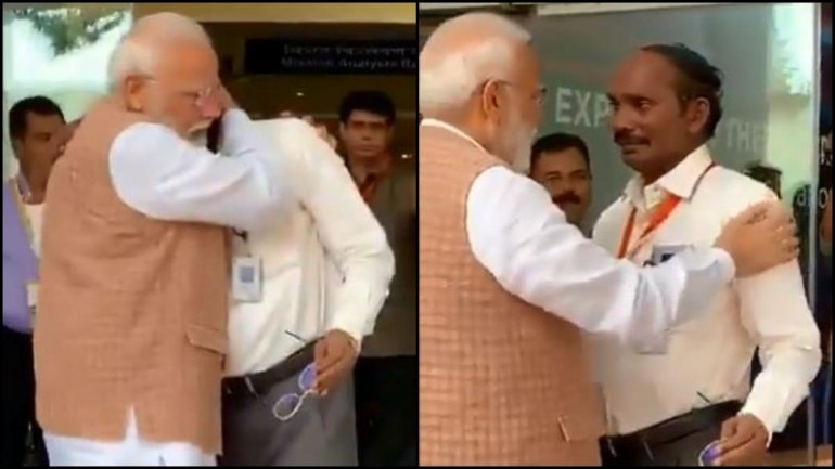 PM Modi consoled Isro chief K Sivan after he broke down.
