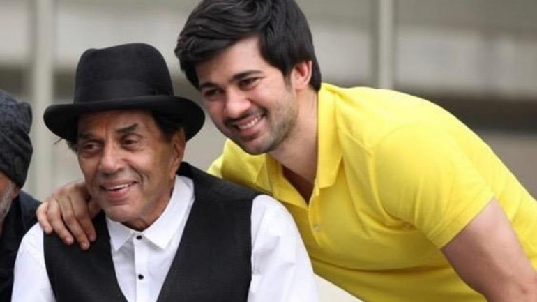 Dharmendra posted a cute childhood photo of grandson Karan Deol on Instagram.
