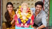 Kriti Sanon wishes happy Ganesh Chaturthi with cute pic. Why did you cut me out, asks Kartik Aaryan