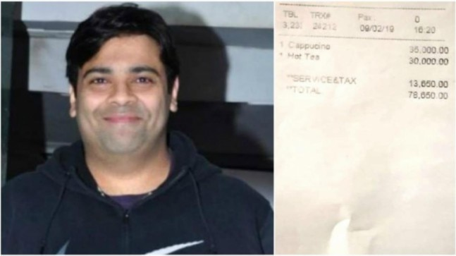 Kiku Sharda charged 78,650 for a cup of coffee and tea but he's not complaining. Here's why