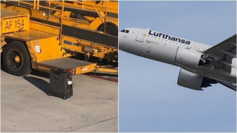Lufthansa leaves behind the luggage of a passenger even after he tells them Photo: Reuters and Twitter/ Karn Rateria