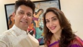 Madhuri Dixit shares selfie with Shriram Nene, says good things in life are better with you