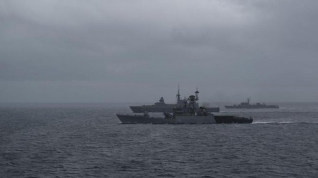 India's naval drill with Singapore, Thailand to end today