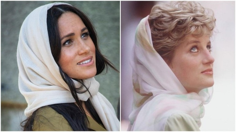 Meghan Markle in headscarf reminds us of Princess Diana
