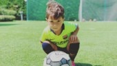 Watch: Lionel Messi's son scores a goal and celebrates like his father