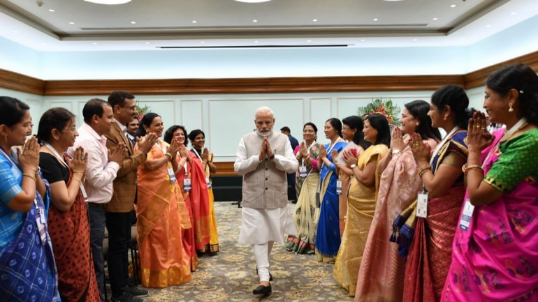 Image result for narendra modi with teachers