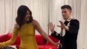 Nick Jonas dances to Hauli Hauli on his birthday and Priyanka Chopra can't stop laughing. Watch video