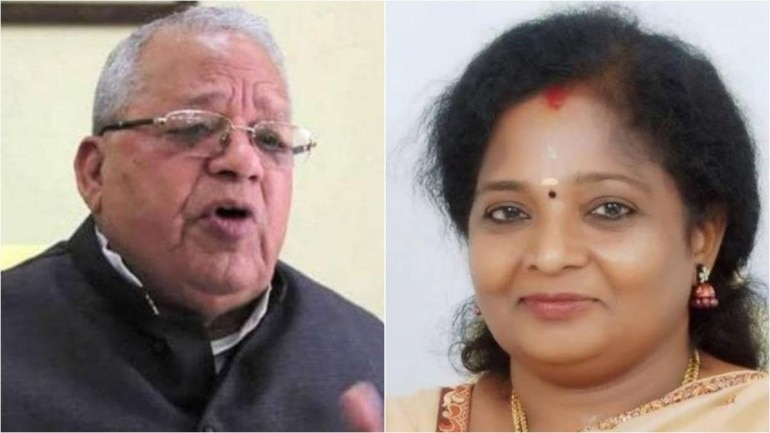 kalraj mishra and Tamilisai Soundararajan
