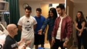 Priyanka Chopra and Jonas Brothers meet fan in hospital as she couldn't attend concert. Watch video