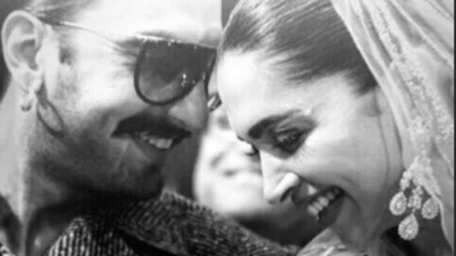 Deepika Padukone blushes as Ranveer Singh whispers something to her. See pic and video