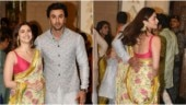 Alia Bhatt almost trips at Ambanis' Ganesh Chaturthi celebration. Ranbir Kapoor doesn't let her fall