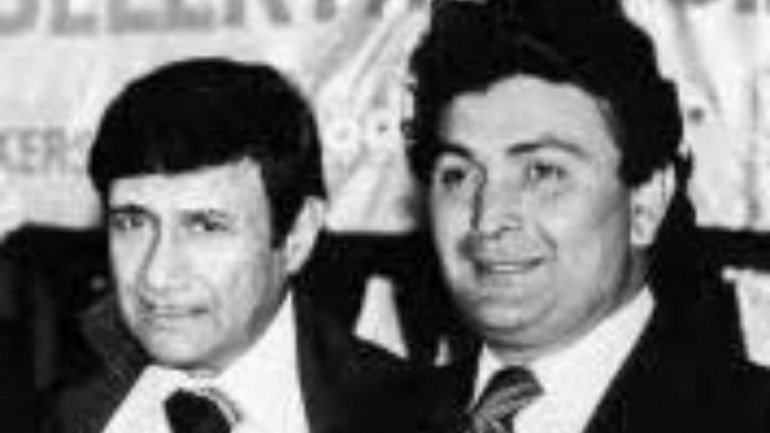 A file photo of Rishi Kapoor and Dev Anand.