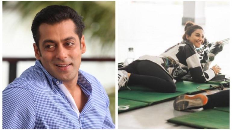 Salman Khan motivates Daisy Shah for becoming professional sharpshooter