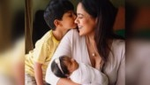 Sameera Reddy posts new photo, starring her son and 2-month-old daughter. Seen yet?