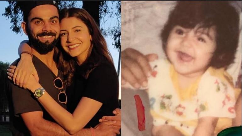 Virat Kohli is in love with Anushka Sharma's childhood photo.