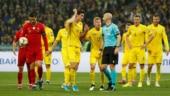 Cristiano Ronaldo scores 700th career goal but Ukraine defeat Portugal 2-1 to reach Euro 2020 finals