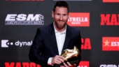 Watch: Lionel Messi receives record 6th European Golden Shoe, his 3rd in row