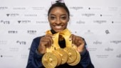 Simone Biles dazzles on floor to win record 25th world championship medal