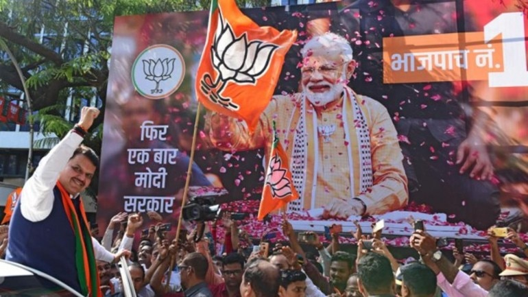 Image result for BJP and Shiv Sena are set to retain power in Maharashtra
