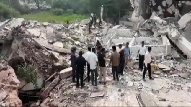Gujarat: Building collapses in Vadodara, several feared trapped