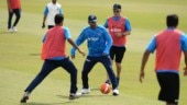 Watch: MS Dhoni plays football with Arjun Kapoor during break from cricket